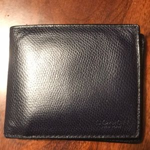 Men's blue leather coach wallet
